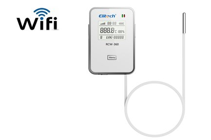 Wifi temperature and humidity data logger for food, healthcare and logistics  industries