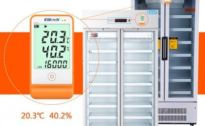 Multi use temperature and humidity data logger for food and healthcare industries